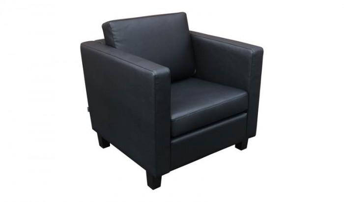 Zwarte Design Fauteuil.Huren Zwarte Design Fauteuil Kunstleer Lounge Zo