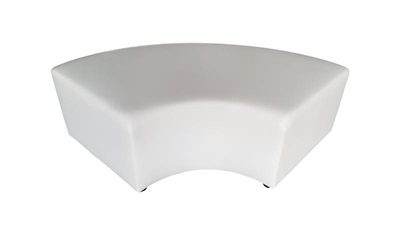 Huren kwart ronde witte grote poef leer lounge zo - Decoratie witte lounge ...