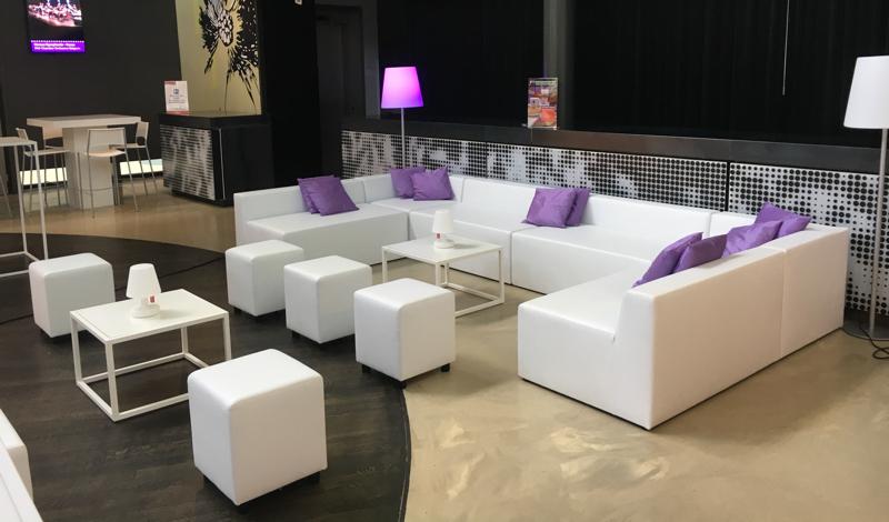 Witte design loungeset huren 10 personen lounge zo - Zwart design lounge en witte ...