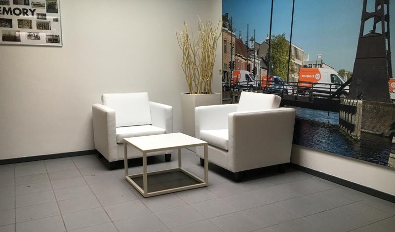Witte design salontafel huren diva 60 wit lounge zo - Witte design lounge ...