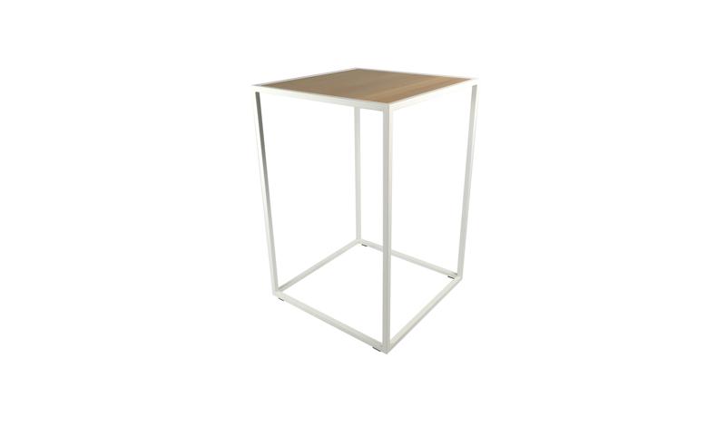 Huren witte design statafels eiken blad lounge zo - Witte design lounge ...