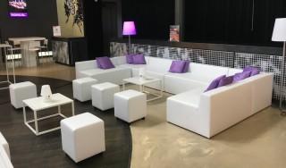 Huren witte loungeset loungeset verhuur lounge zo - Witte design lounge ...