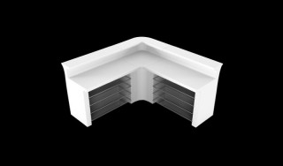LED Verlichte Bar Huren: Break Corner