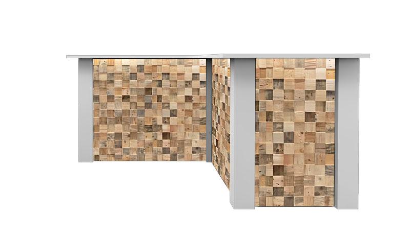 Witte Inverse Bar Huren: FlexxBar Cube