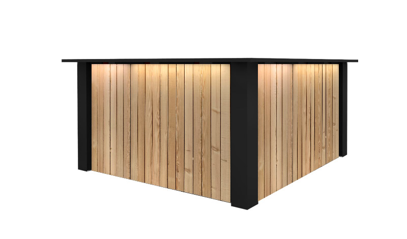 Zwarte Hoek Bar Huren: FlexxBar Lumber