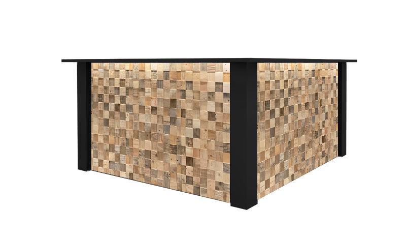 Zwarte Hoek Bar Huren: FlexxBar Cube