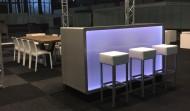 Rechte LED Balie Huren: Comida Desk