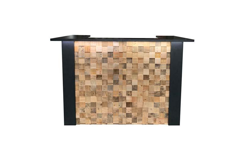 Zwarte bar of balie huren: FlexxBar Cube