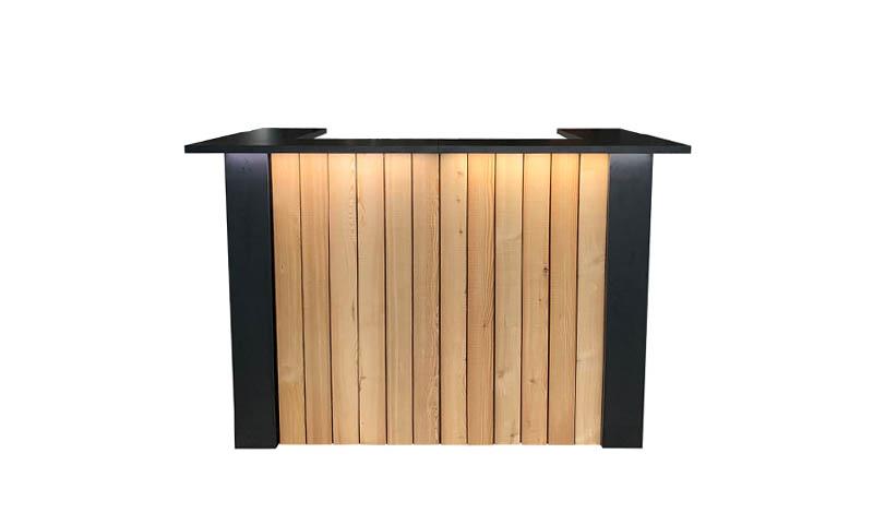 Zwarte bar of balie huren: FlexxBar Lumber