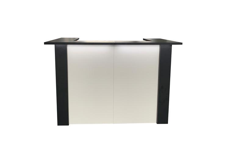 Zwarte bar of balie huren: FlexxBar Blanco